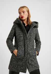 ONLY Petite - ONLSEDONA COAT - Cappotto corto - dark grey melange - 0