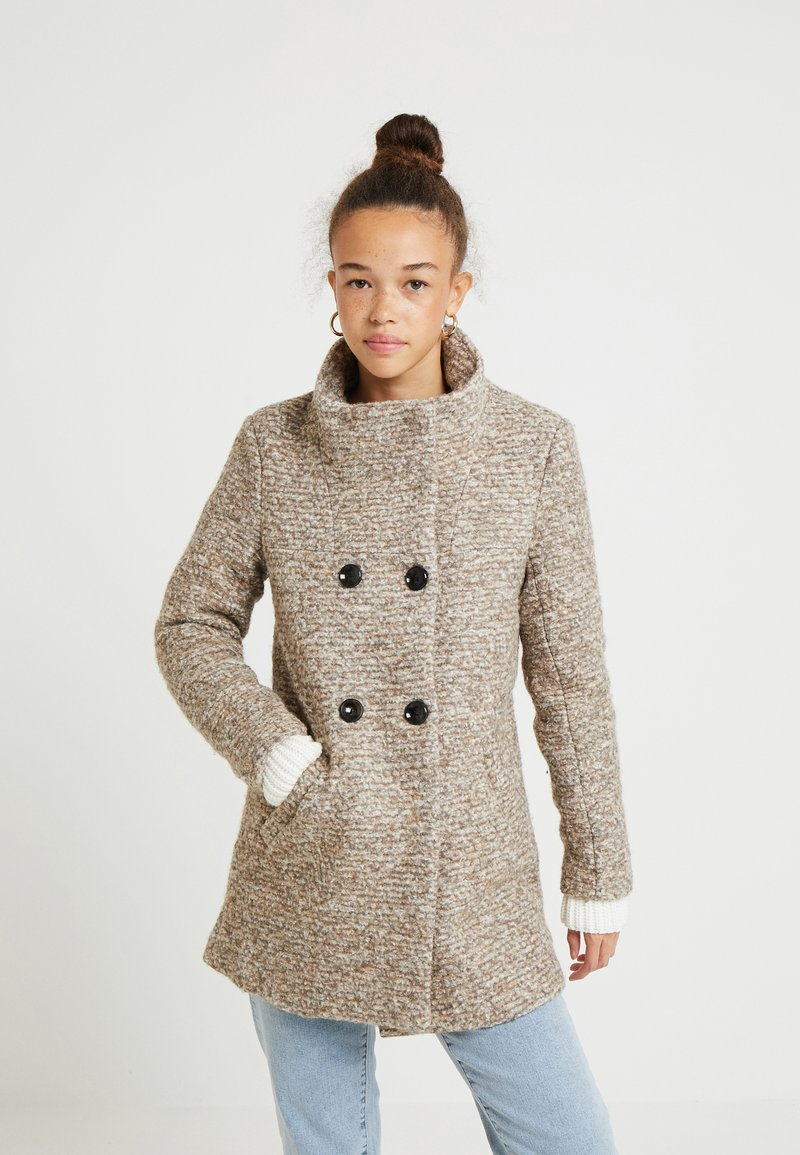 ONLY Petite - ONLSOPHIA COAT - Short coat - taupe/gray