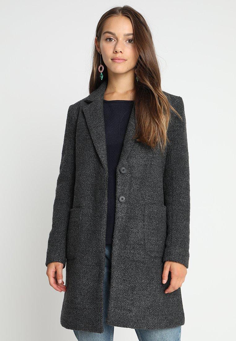 ONLY Petite - ONLSTONE COAT - Zimní kabát - dark grey melange