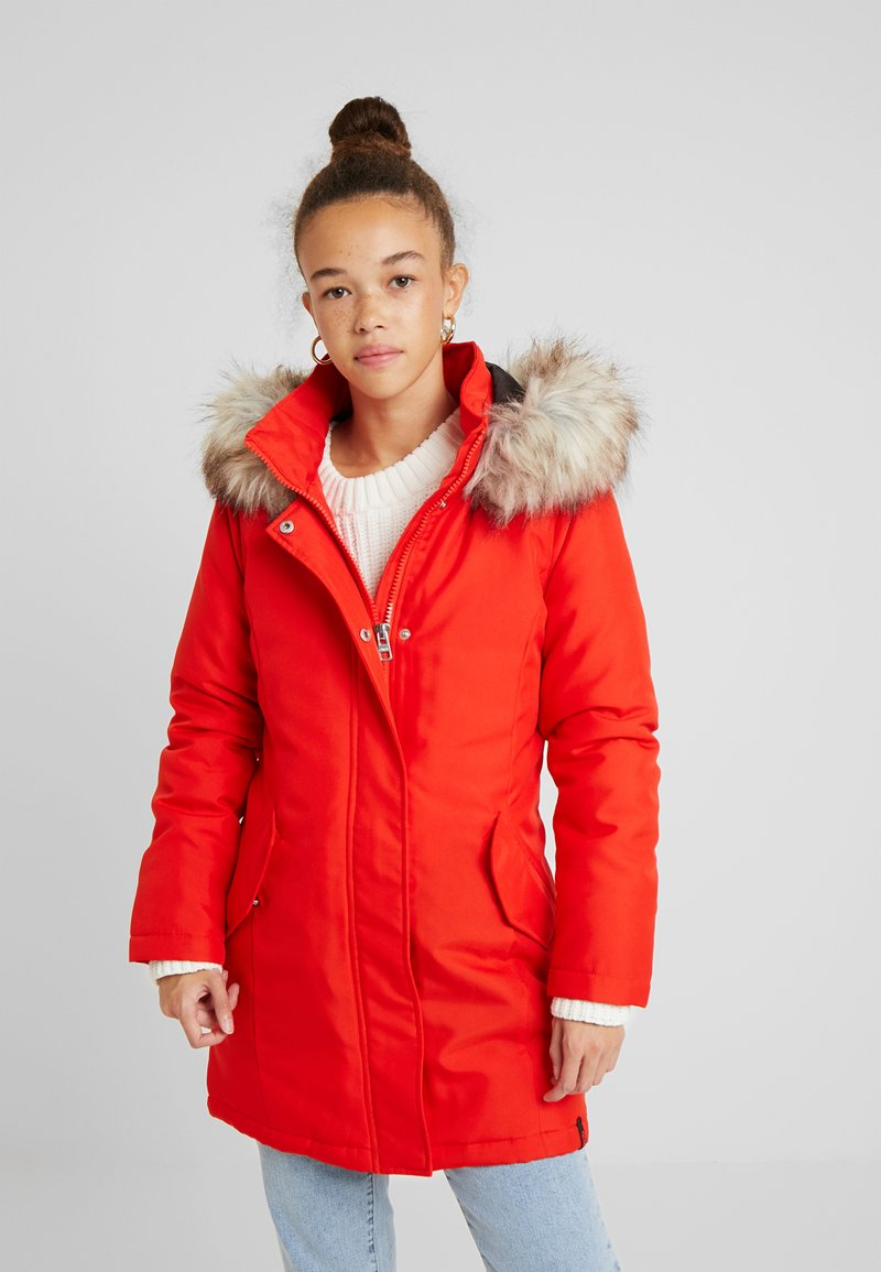 ONLY Petite - ONLKATY COAT - Parkatakki - fiery red