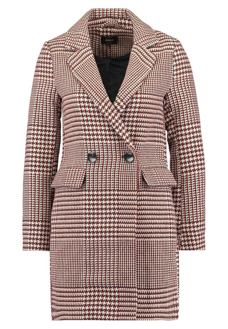 ONLY Petite - ONLSELENA CHECK COAT - Short coat - pumice stone/picante