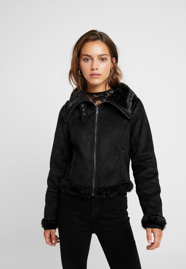 ONLEMMA BOND - Faux leather jacket - black