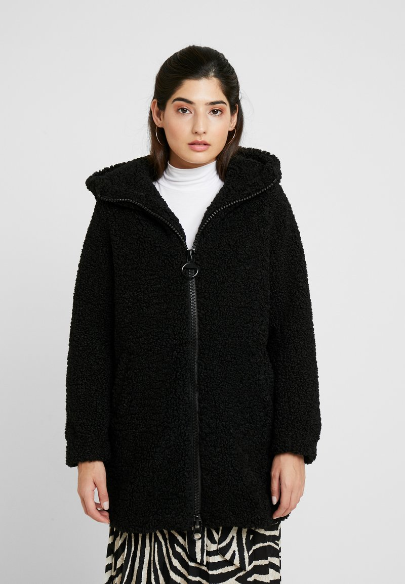 ONLY Petite - ONLTERRY CURLY FUR HOOD COAT - Płaszcz zimowy - black