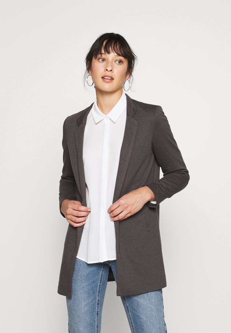 ONLY Petite - ONLSOHORUBY SPRING COAT - Abrigo corto - dark grey