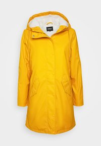 ONLY Petite - ONLSALLY RAINCOAT - Parka - golden yellow/white - 5