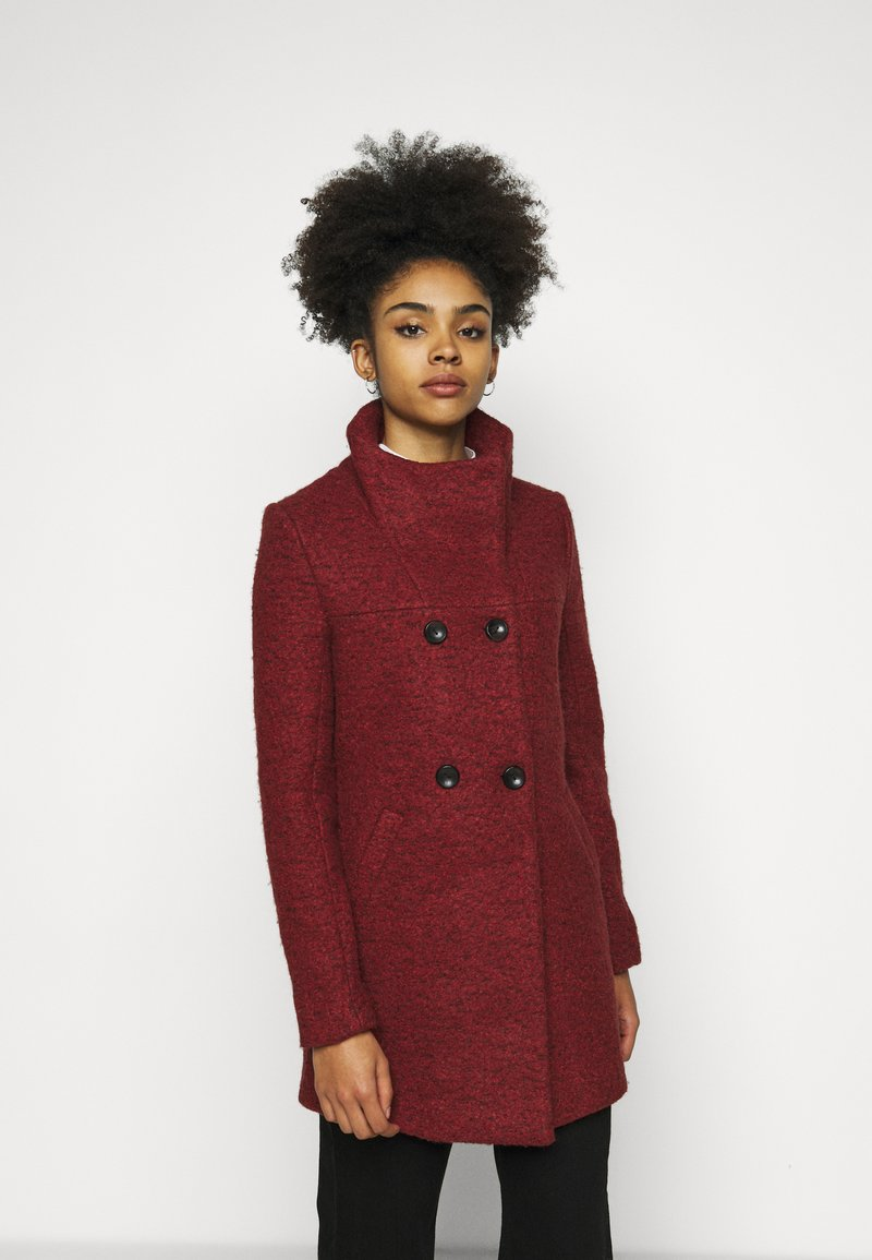 ONLY Petite - ONLNEWSOPHIA COAT - Cappotto corto - fired brick/melange