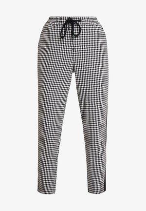 PANTS PEPITA SHOELACE - Pantalones - black/white