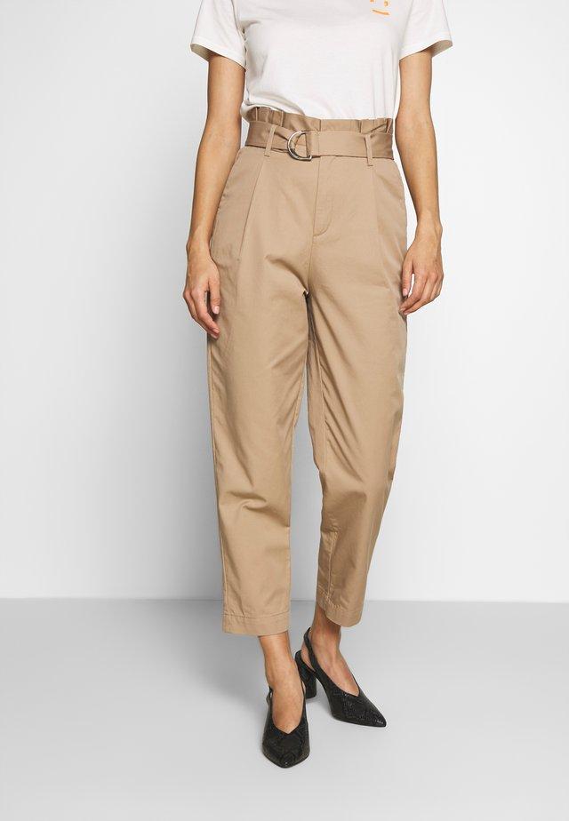 PANTS - Pantalon classique - vintage beige