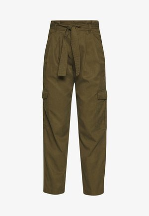 TURN UP DETAIL - Stoffhose - summer olive