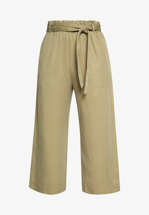 PANTS WIDE LEG BELT - Trousers - bleached olive