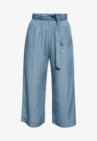 Marc O'Polo DENIM - PANTS WIDE LEG BELT - Kalhoty - blue grey - 5