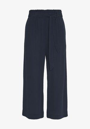 PANTS WIDE LEG BELT - Trousers - scandinavian blue