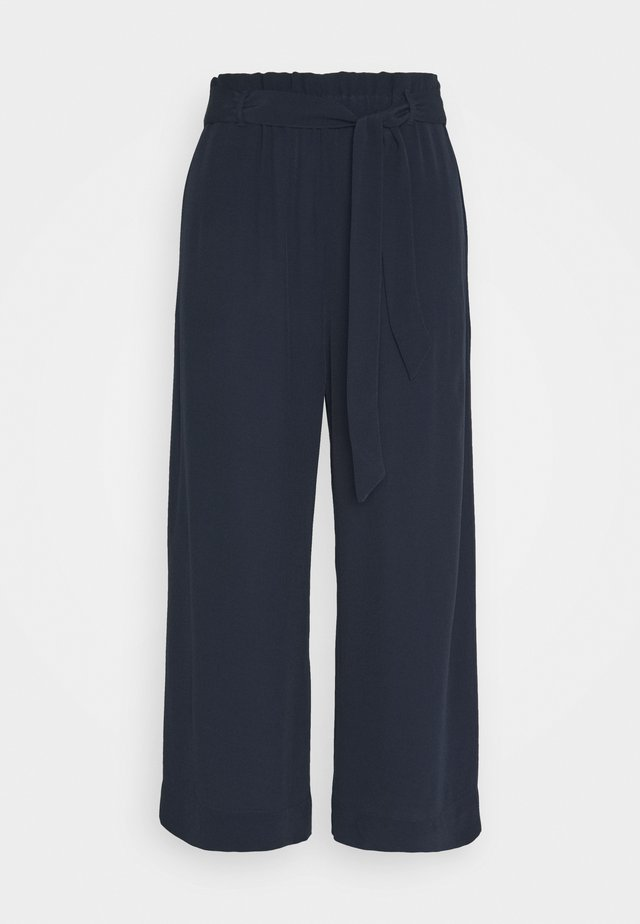 PANTS WIDE LEG BELT - Trousers - scandinavian blue