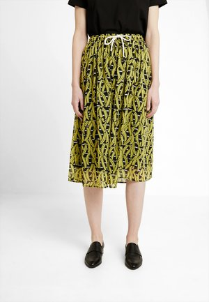 SKIRT PRINTED STRIPE - A-Linien-Rock - yellow