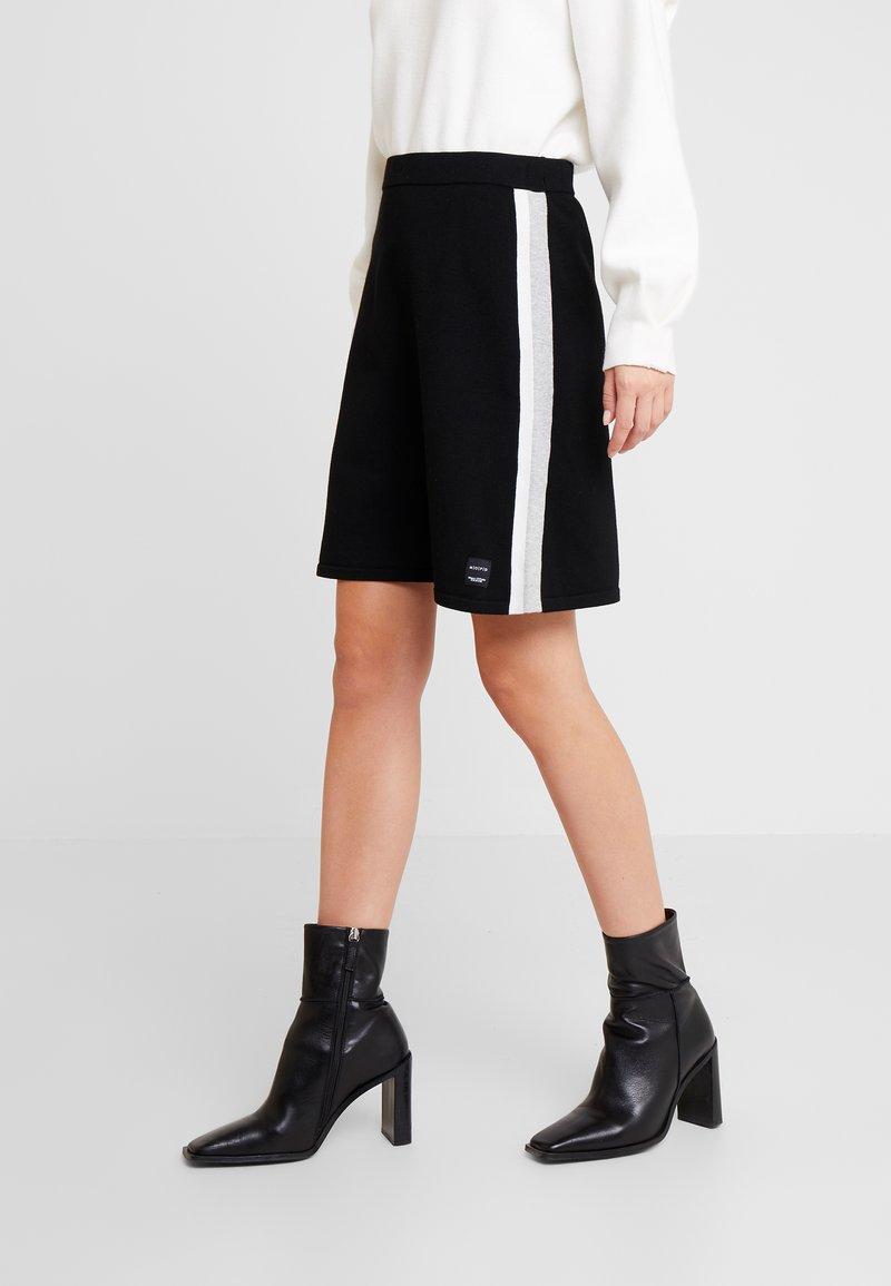 Marc O'Polo DENIM - HEAVY SKIRT STRIPE DETAIL - A-line skirt - black