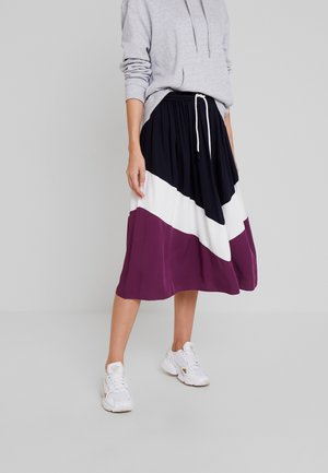 SKIRT COLOR BLOCK DETAIL - Spódnica trapezowa - blue