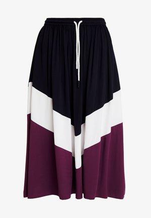 SKIRT COLOR BLOCK DETAIL - A-line skirt - blue