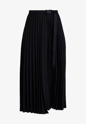 SKIRT PATCHWORK - Áčková sukně - black