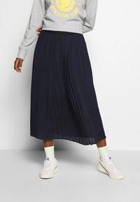 Marc O'Polo DENIM - SKIRT PLISSEE - A-line skirt - scandinavian blue - 0