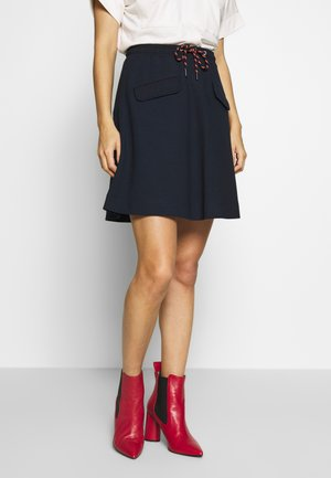 SKIRT SHORT LENGTH FLAPPOCKETS - A-line skirt - scandinavian blue