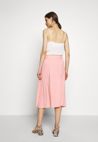 Marc O'Polo DENIM - SKIRT BELT BUTTON PLACKET - A-line skirt - multi/soft coral - 2