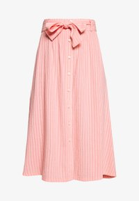 Marc O'Polo DENIM - SKIRT BELT BUTTON PLACKET - A-line skirt - multi/soft coral - 4