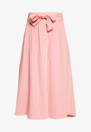 SKIRT BELT BUTTON PLACKET - A-line skirt - multi/soft coral