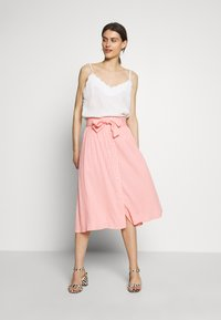 Marc O'Polo DENIM - SKIRT BELT BUTTON PLACKET - A-line skirt - multi/soft coral - 1