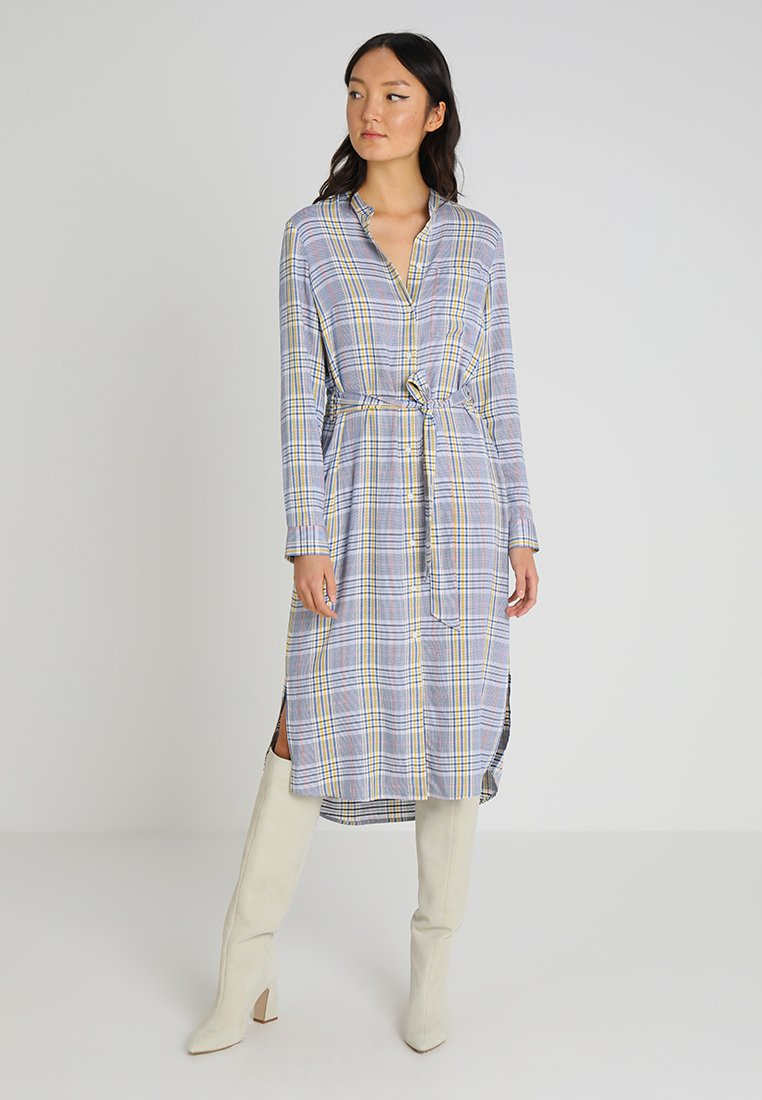 Marc O'Polo DENIM - Shirt dress - yellow/grey melange