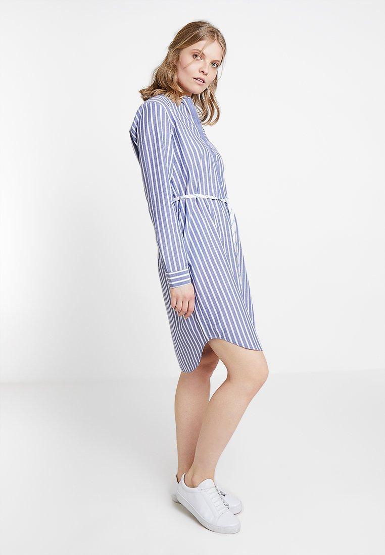 Marc O'Polo DENIM - DRESS STYLE - Košilové šaty - blue/white