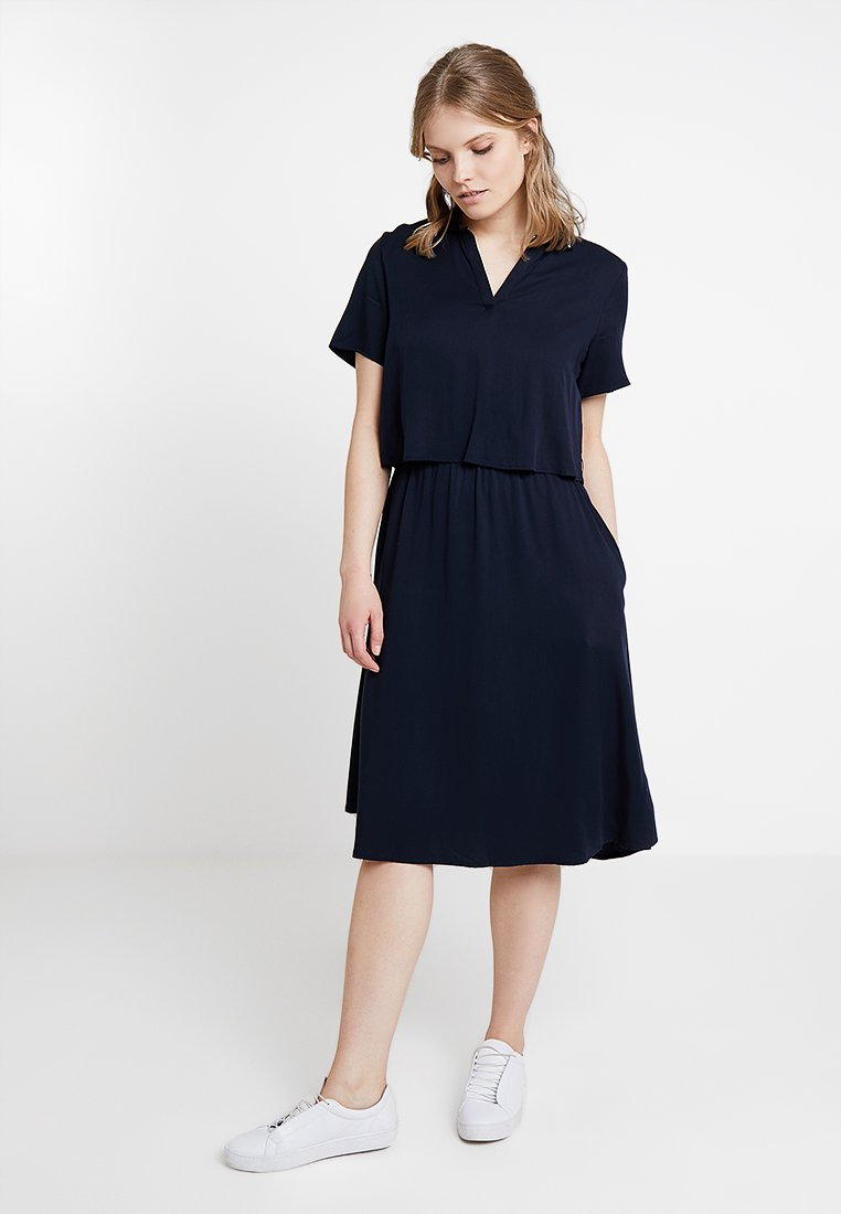 Marc O'Polo DENIM - LAYERED DRESS COLLAR - Vestido informal - blue night sky