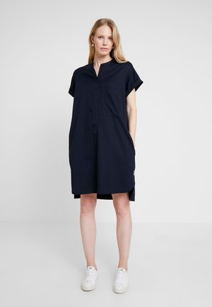 SHIRTDRESS HALF PLACKET PATCH ON - Abito a camicia - blue night sky
