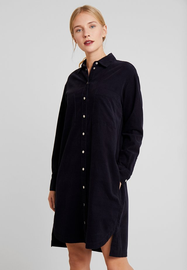 DRESS LONG SLEEVE KENT COLLAR - Košilové šaty - blue night sky