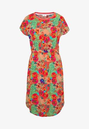 DRESS ROUND NECK SHORT SLEEVE - Vardagsklänning - multi-coloured