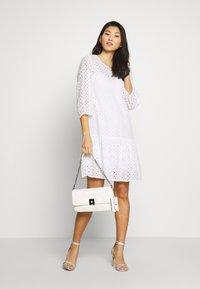 Marc O'Polo DENIM - DRESS BROIDERY ANGLAISE - Denní šaty - white - 1