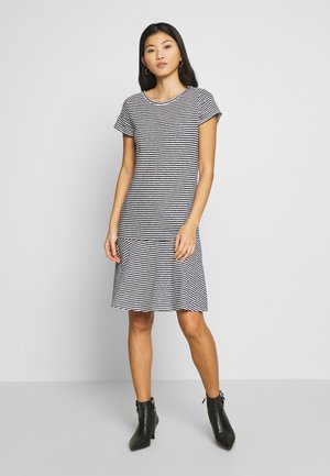 Žerzejové šaty - dark blue/ white