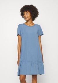 Marc O'Polo DENIM - DRESS FRILL SKIRT - Day dress - blue fantasy - 0