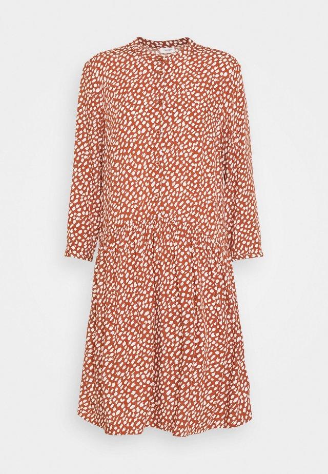 DRESS - Shirt dress - multi/cinnamon brown