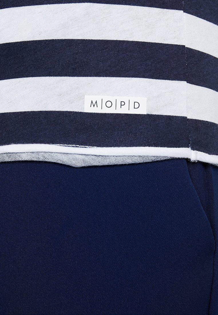 Marc O'Polo DENIM STRIPED - T-shirts med print - blue/white