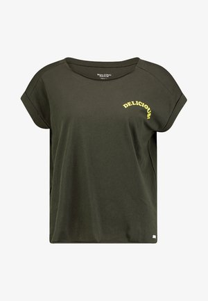 SHORT SLEEVE WITH TURN UPS - T-shirt z nadrukiem - action green