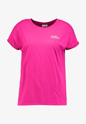 CREW NECK SHORT SLEEVE - Print T-shirt - fuchsia red