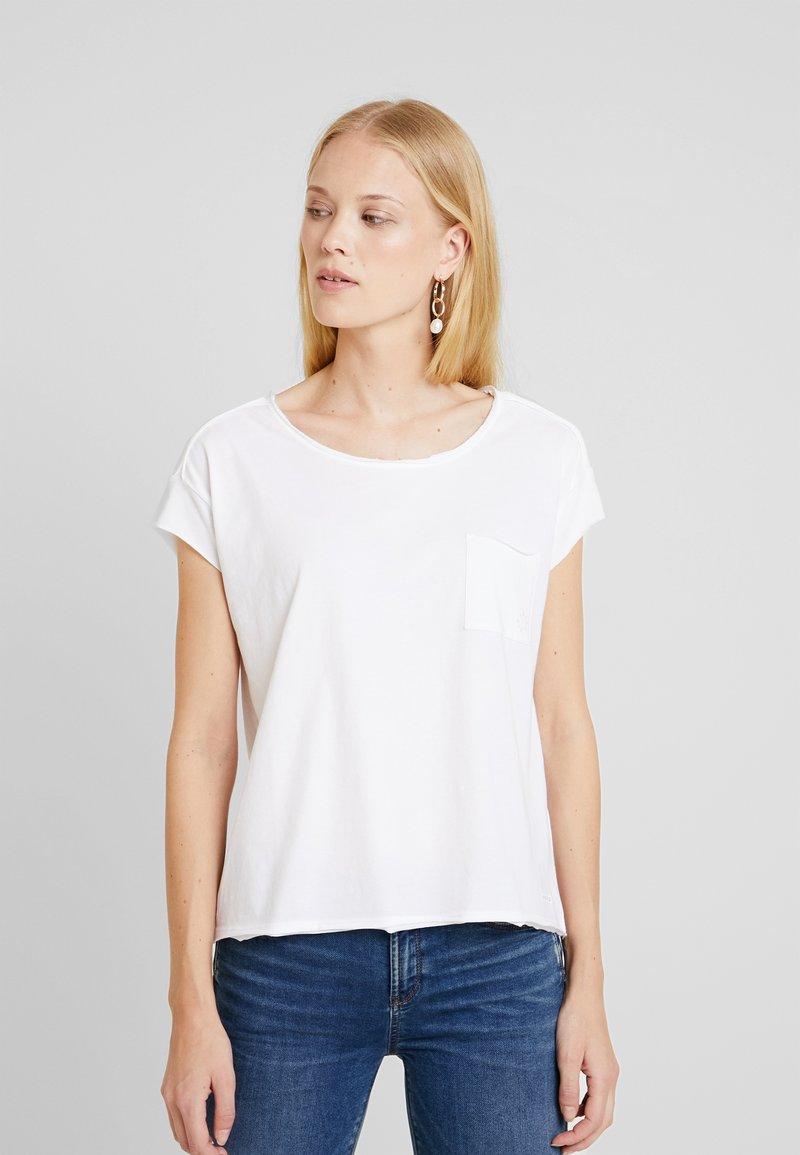 Marc O'Polo DENIM - SHORT SLEEVE RAW CUT EDGE - T-shirt basic - white