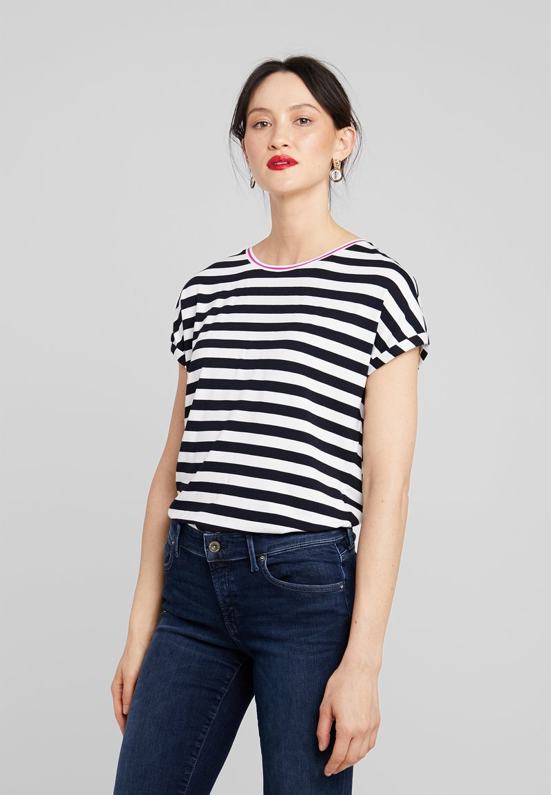 Marc O'Polo DENIM - STRIPED TEE - Camiseta estampada - white/black