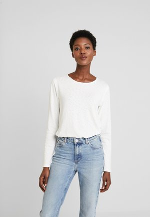 CREW NECK RAW CUT EDGES - Jersey de punto - white