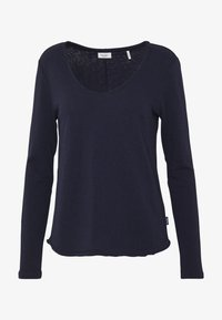 Marc O'Polo DENIM - LONGSLEEVE RAW CUT EDGES - Long sleeved top - scandinavian blue