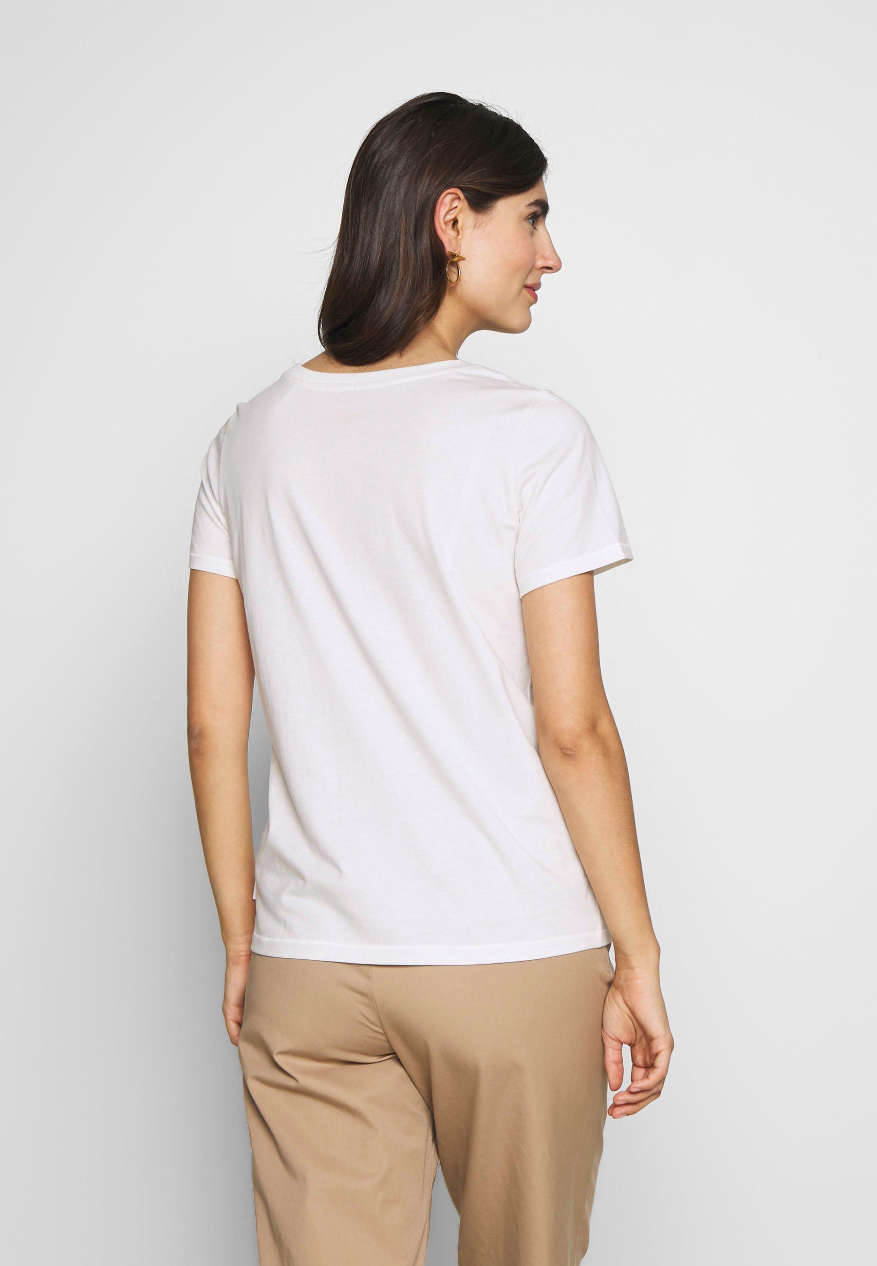 Marc O'Polo DENIM SHORT SLEEVE FRONT  - T-shirts med print - scandinavian white