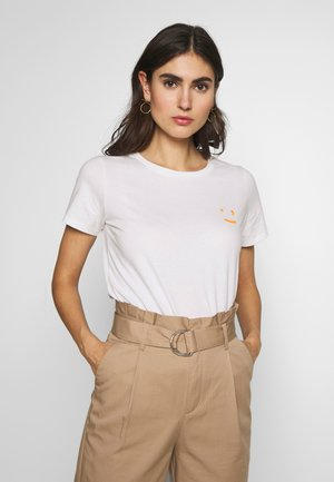 SHORT SLEEVE FRONT  - T-shirt print - scandinavian white