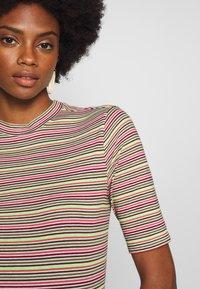 Marc O'Polo DENIM - OVERLONG SHORT SLEEVES STRIPE SLIM FIT - T-shirt con stampa - multi - 4