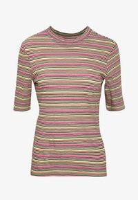 Marc O'Polo DENIM - OVERLONG SHORT SLEEVES STRIPE SLIM FIT - T-shirt con stampa - multi - 3