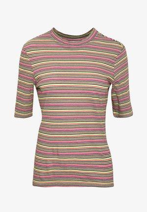 OVERLONG SHORT SLEEVES STRIPE SLIM FIT - Print T-shirt - multi